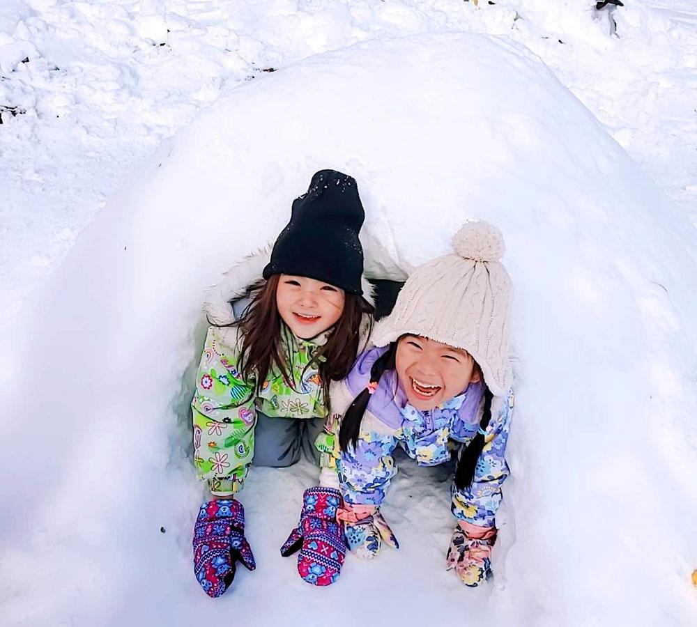 1月 雪遊び 冬